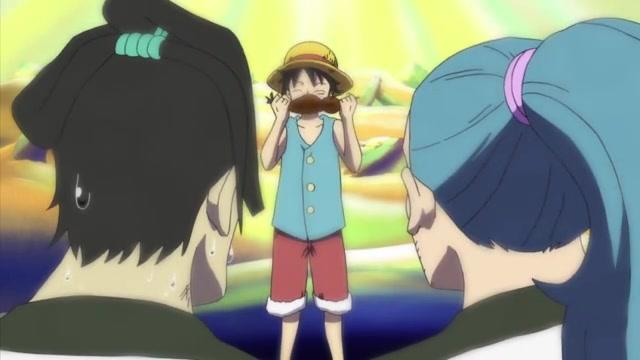 One Piece Episódio - 431A armadilha do chefe da guarda, Saldeath. Level 3, o inferno da fome