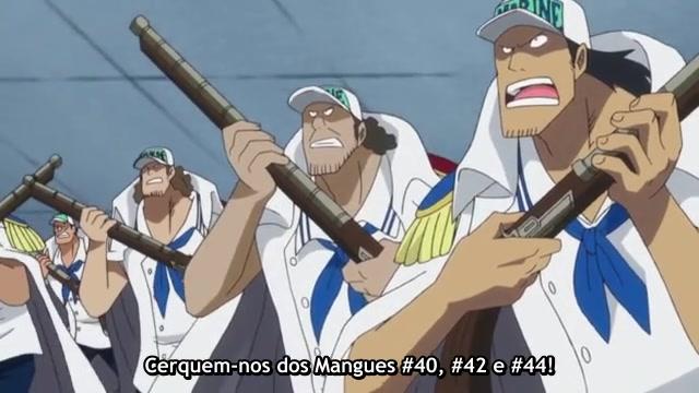 One Piece Episódio - 519A marinha entra em ação!