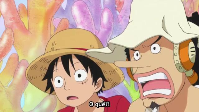 One Piece Episódio - 529Destruição da Ilha dos Homens-Peixe?