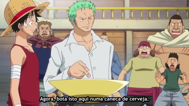 One Piece Episódio - 745A Formação dos Seguidores dos Copos de Saquê!