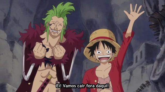 One Piece Episódio - 748O Labirinto Subterrâneo.