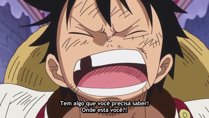 One Piece Episódio - 821O castelo em tumulto! Luffy, ao Rendezvous!