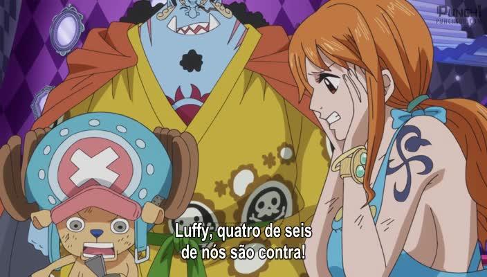 One Piece Episódio - 827Uma Reunião Secreta! Luffy vs Os Piratas Fire Tank!