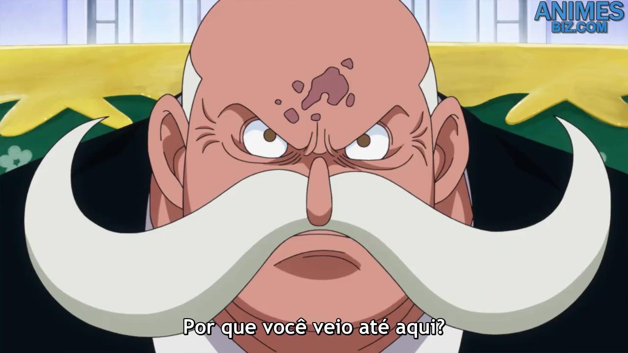 One Piece Episódio - 887Situação Explosiva! Dois Imperadores do Mar no Encalço de Luffy!