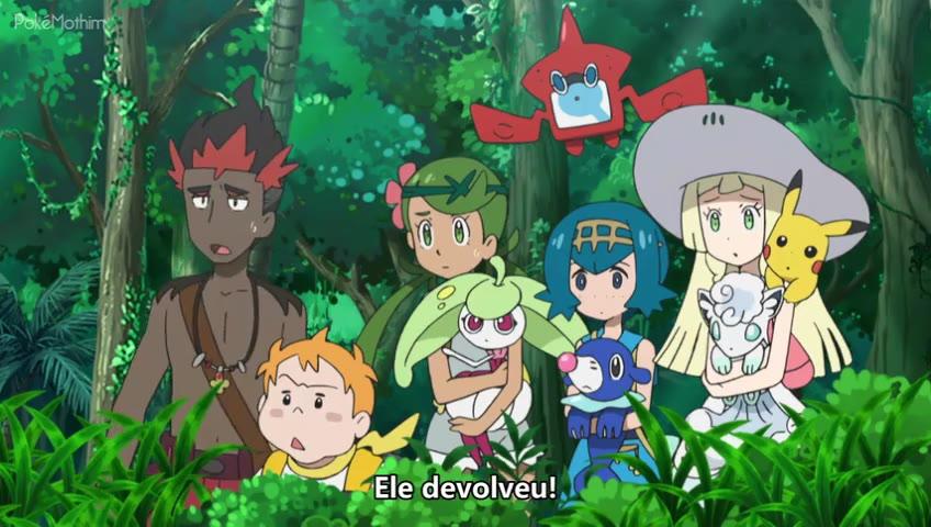 Pokemon Dublado Episódio - 1009Ash e Passimian! O (Touchdown) de Uma Amizade!! Banido | Legendado