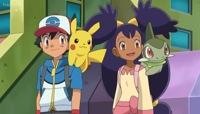 Pokemon Dublado Episódio - 785Adeus, Unova! Içar Velas Para Novas Aventuras!