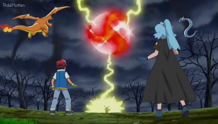 Pokemon Dublado Episódio - 798Um Pokémon de Uma Cor Diferente!