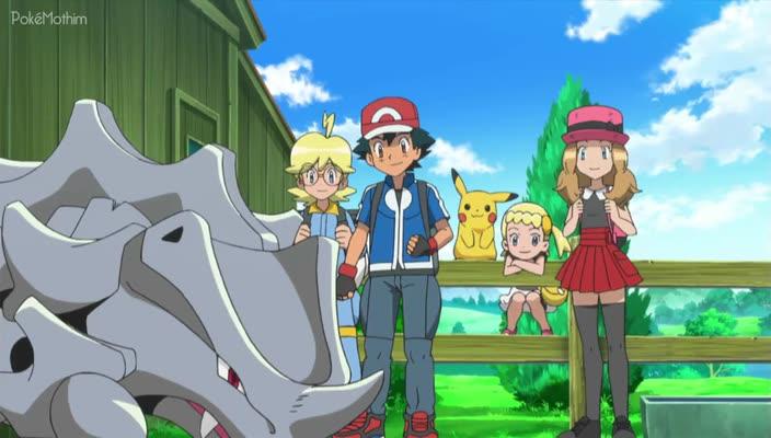 Pokemon Dublado Episódio - 811Caçada na Corrida de Rhyhorn!
