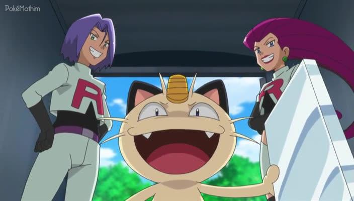Pokemon Dublado Episódio - 814Loucura de Mega-Mega Meowth!