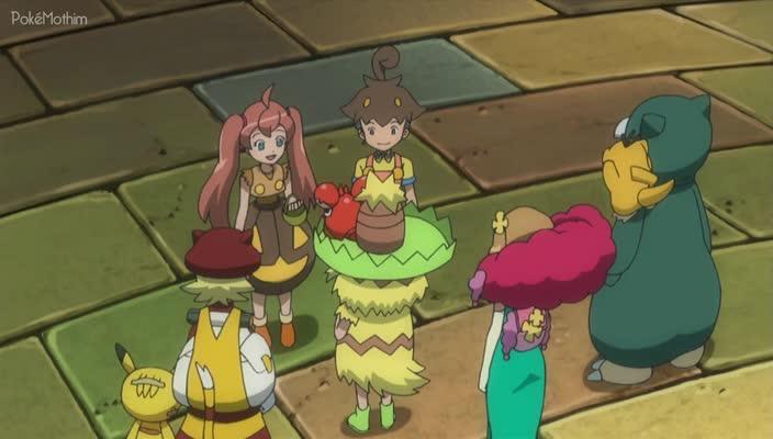 Pokemon Dublado Episódio - 886Um Festival de Trocas! Um Adeus no Festival?!